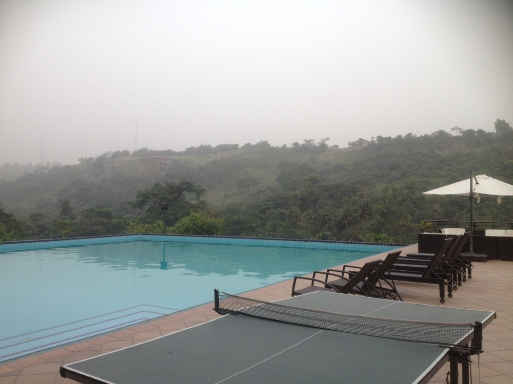 poolside at the lansdown ibru heights, aburi, ghana