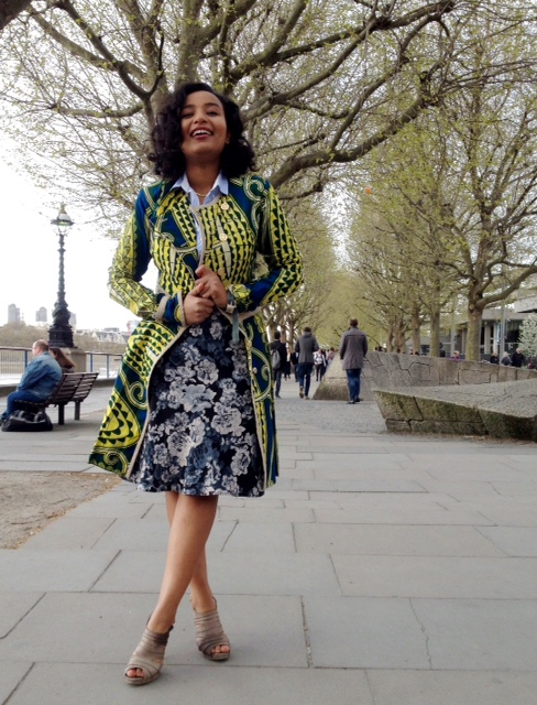 SBA Co-founder, alae ismail in kinabuti trench coat