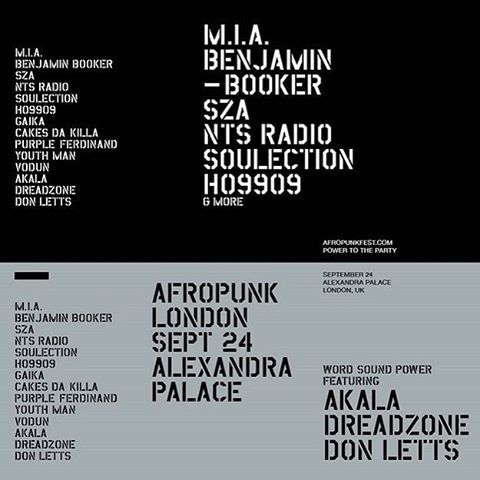 BOOM! @afropunk LND! Finally! Looks like we're staying in London this September 🙋🏽👯💃🏼