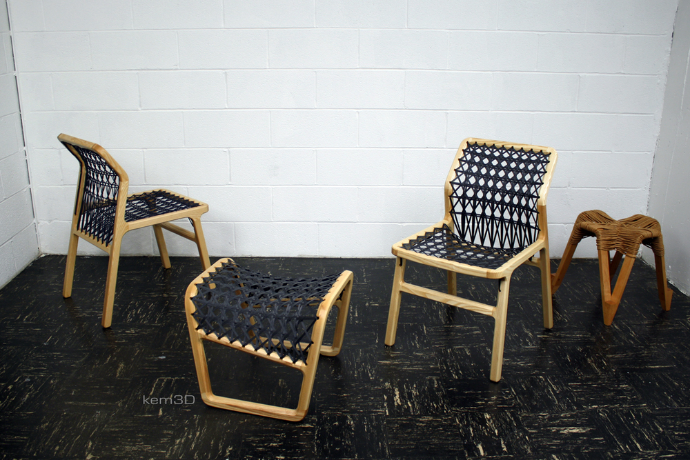 Rand Chairs, Rest, and Introvert stool