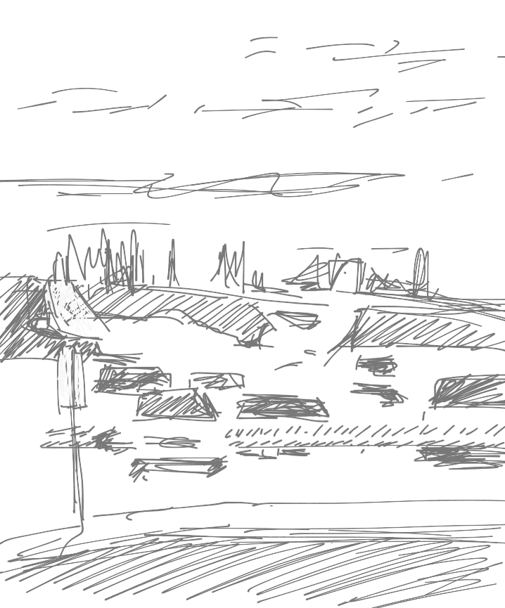 Parking Lot, Goose Bay Airport  iPad (3rd Gen.), Penultimate App, 2013