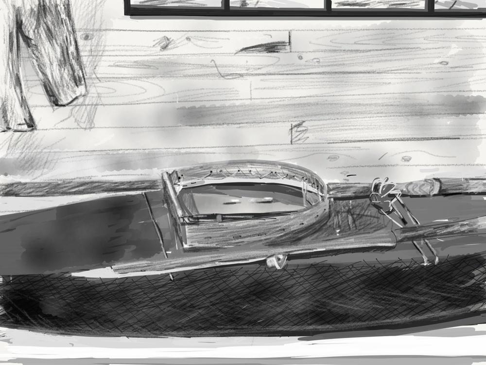 Kayak, Hopedale Museum iPad (3rd Gen.), Paper App, 2013