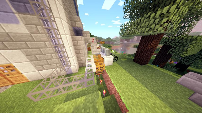 Here is the stone farm setup.