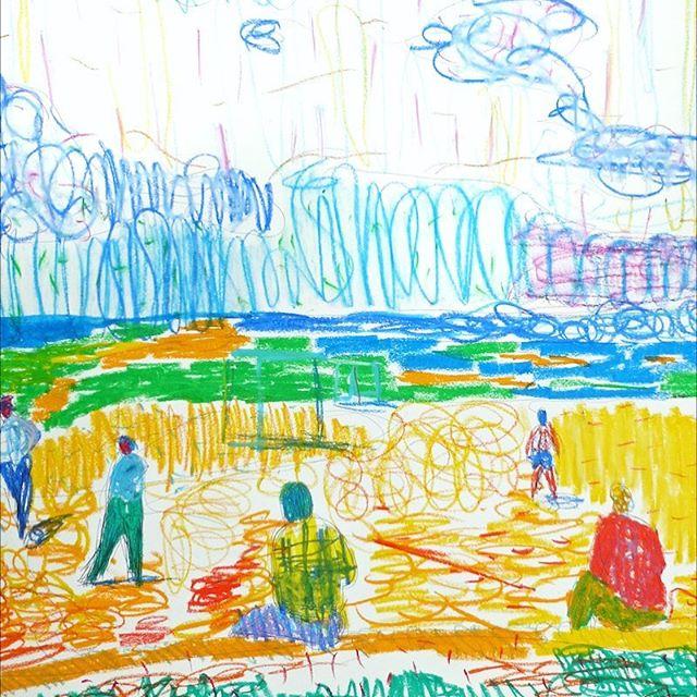#oilpastel #scribble #sketch #beach #tulum