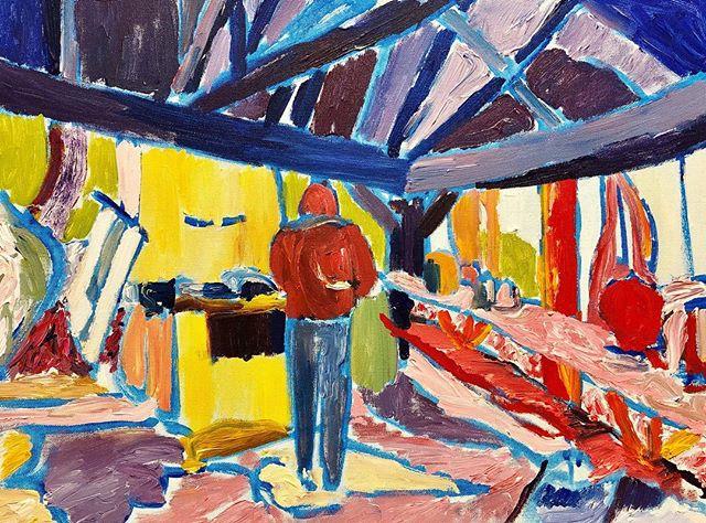 """Joel, Birthday Camping"" Acrylic on canvas, 18 x 24 (2019)  #acrylicpainting #acrylics #art #painting #paint"