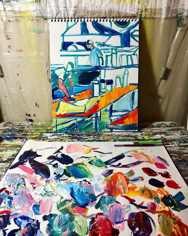 #workinprogress #workinprogressart #worksonpaper #acrylicpainting #paintinginprogress #artprocess