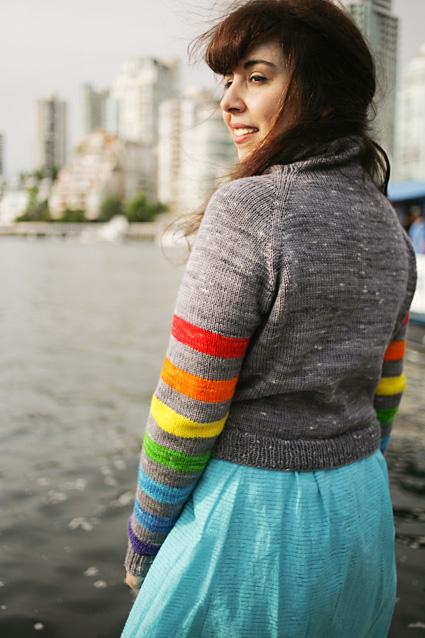 Rena modelling Double Rainbow.