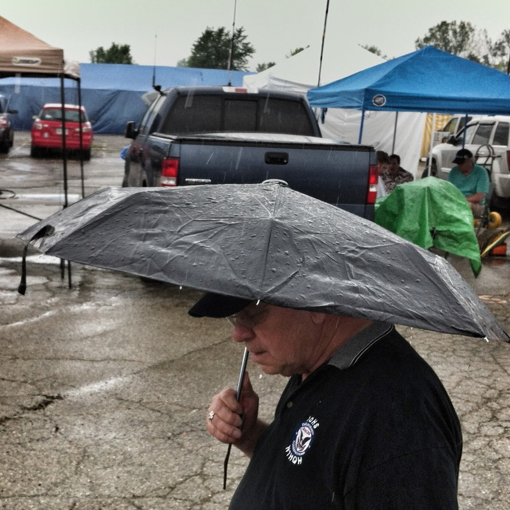 N1HQH waits out the drizzle. Hamvention, Dayton OH.