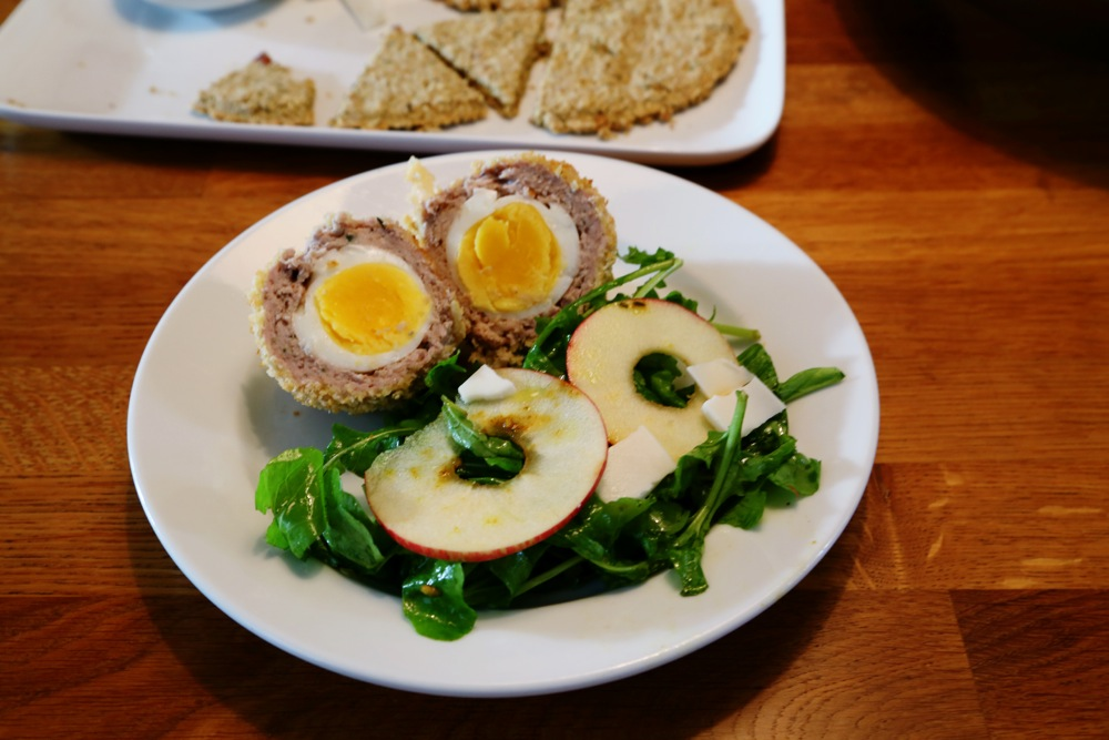 Scotch eggs  + Claire's salad