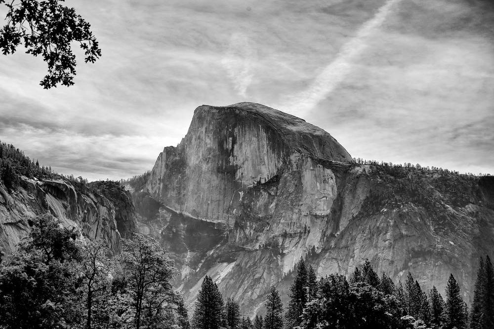 Half Dome looking like earth's kneecap.