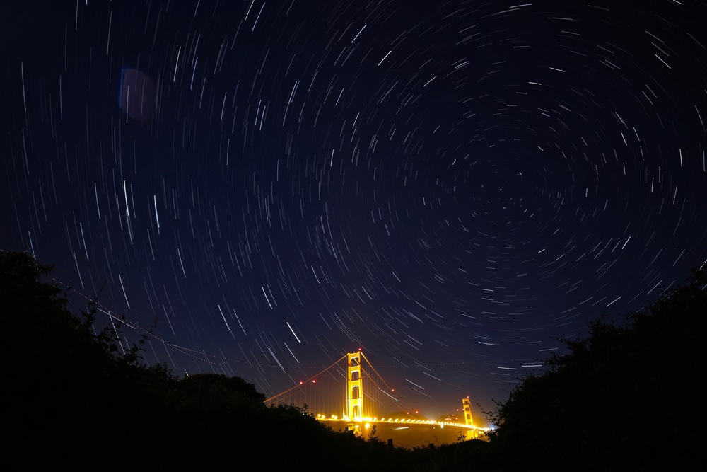 Wasn't even going for Milky Way here. Star Trails above the Golden Gate was cool enough.