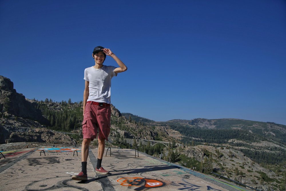 Kay on Donner Summit.