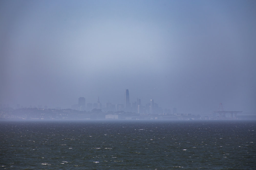 Hazy San Francisco from Coyote Point