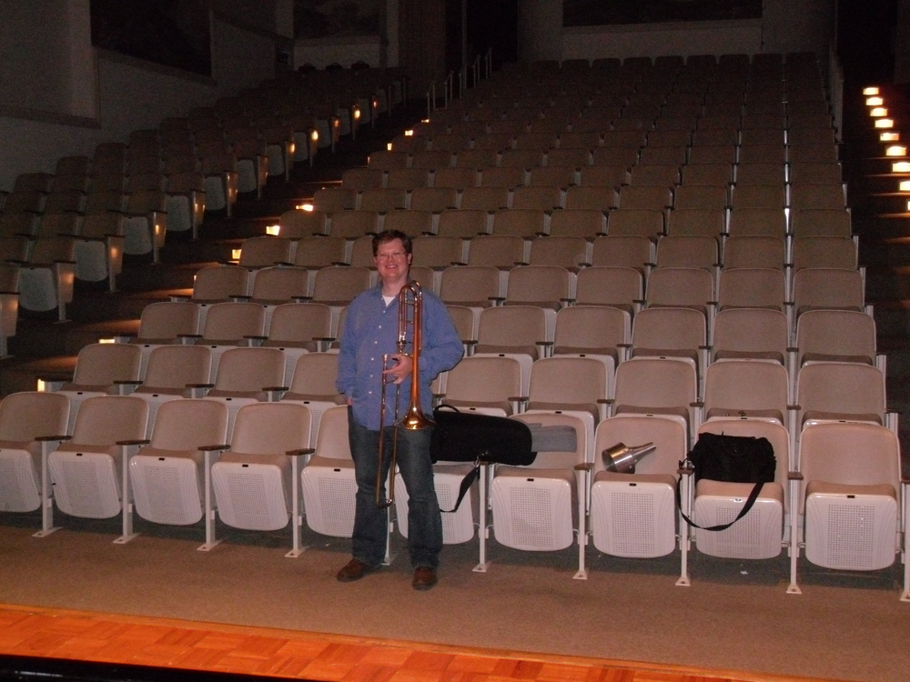 Rehearsing for guest recital at Converse College