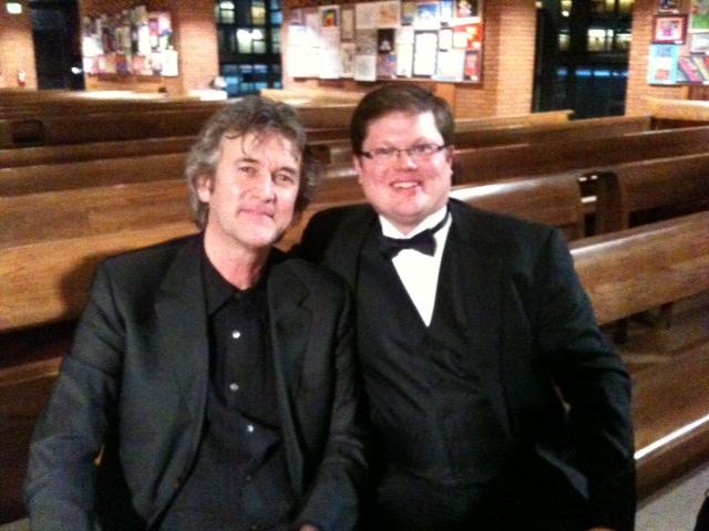 With composer and trombonist Johan de Meij