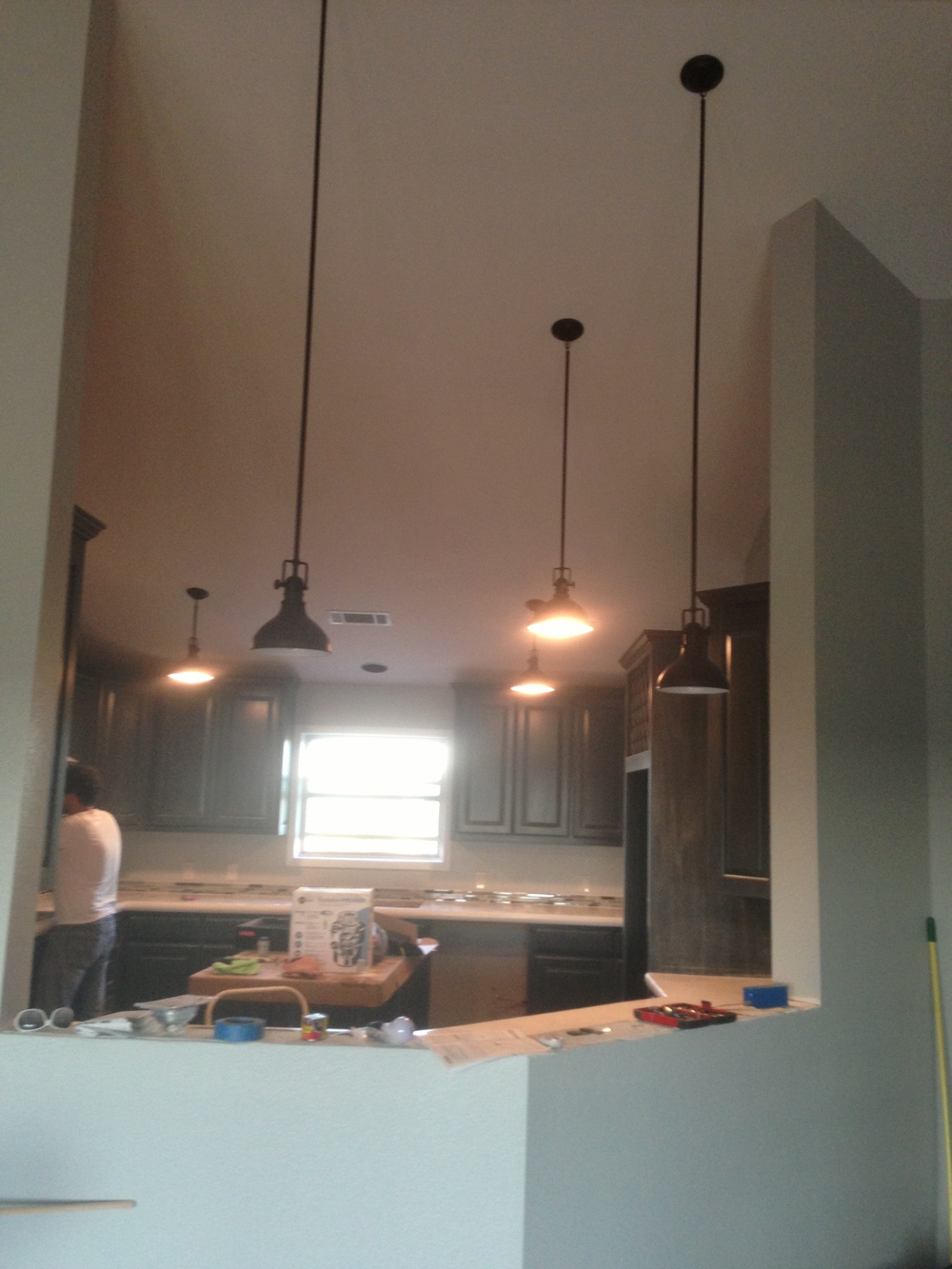 All of the lights in the kitchen are in!!!!!