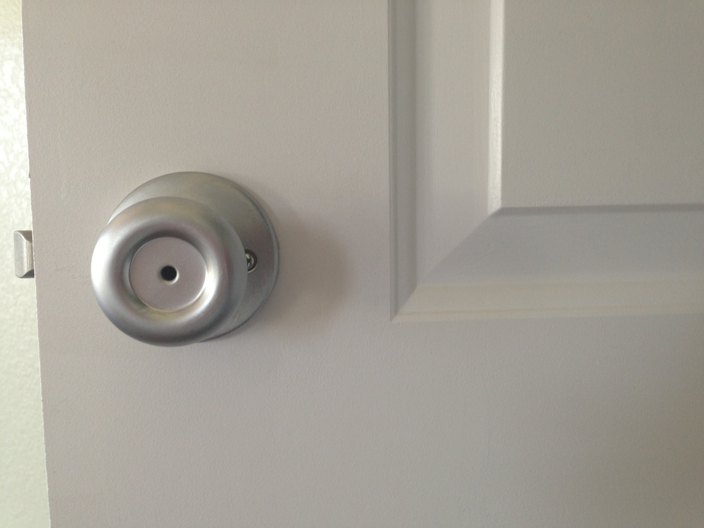 We have all the door knobs in...that is except two that need some adjustment.