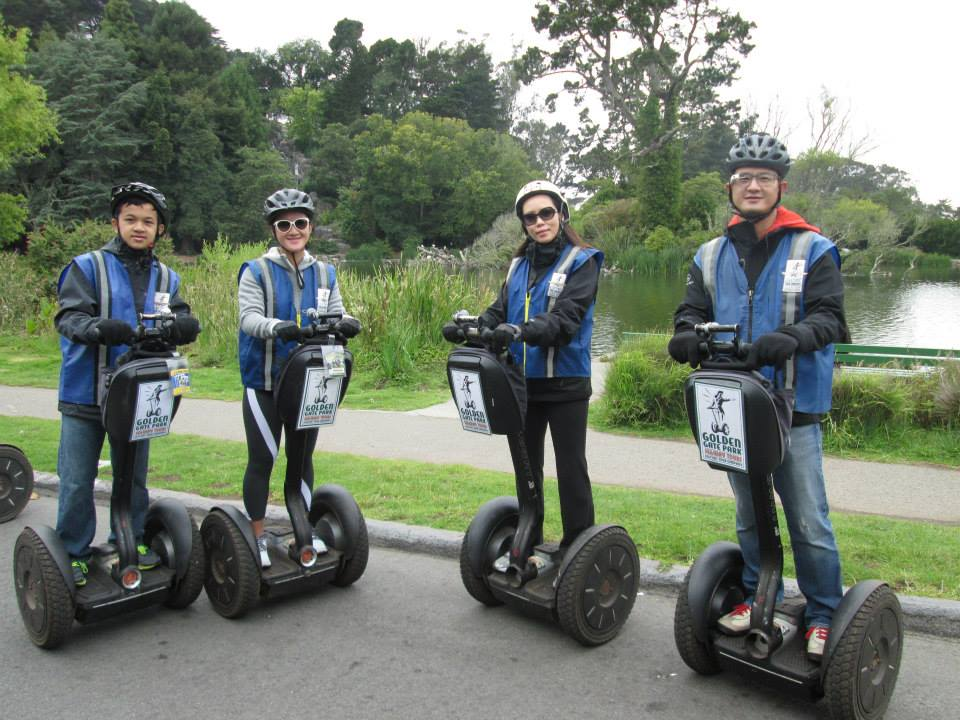 Segway + company logo clothing + Google Glass = Peak Nerd