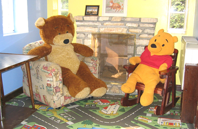 Mr T Bear and friend relax in the sitting room