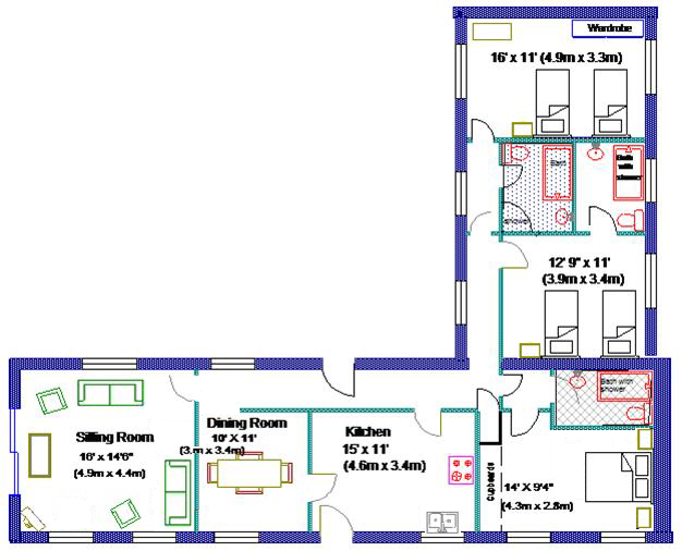 Dairy Cottage floorplan