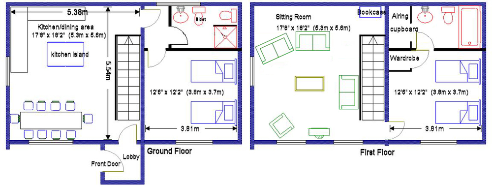 Corner House floorplan