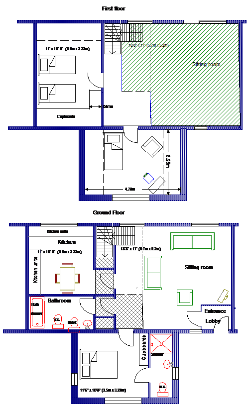 Courtyard Cottage floorplan