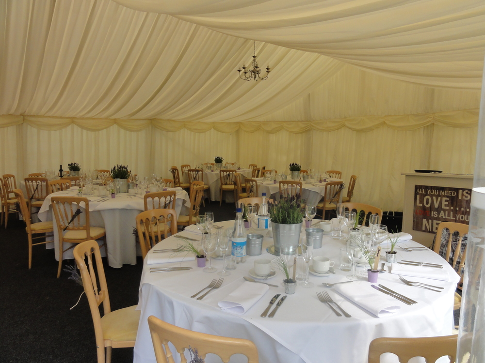 Wedding marquee May 2016