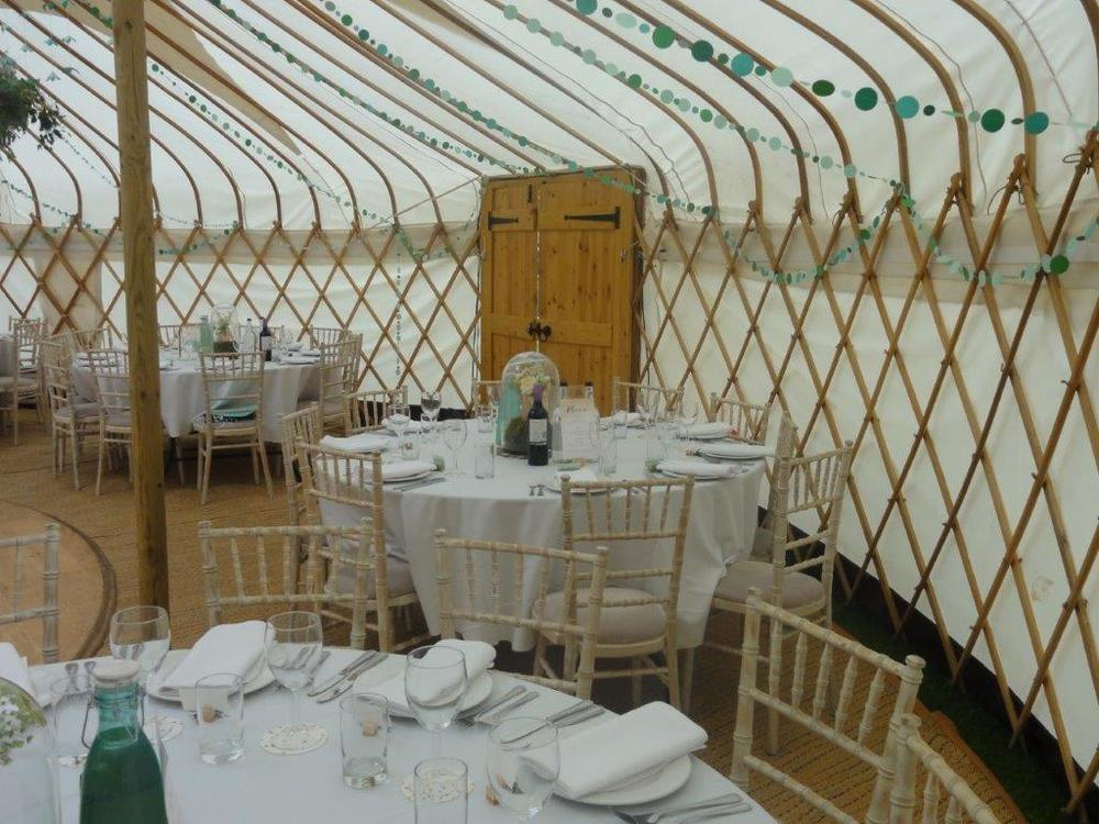 Wedding yurt June 2016