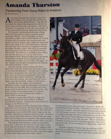 Today's Equestrian, June 2010