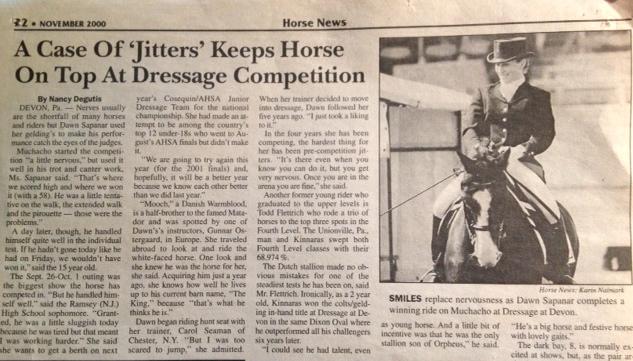 Horse News, November 2000