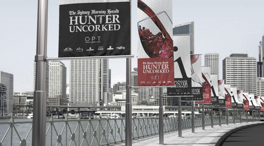 Hunter Uncorked Event Banners