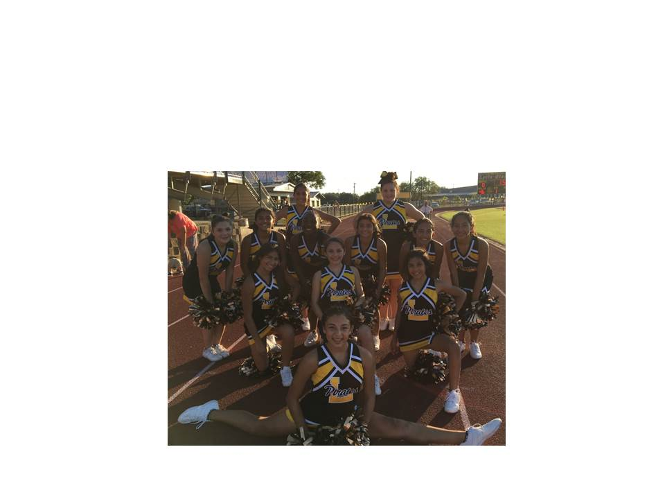 8th Grade Cheerleaders – Mariana Verdeja, Rosalinda Garcia, Madison Gamboa, Emili Oliver, Clarissa Ybarra, Tabitha Martinez, Isyss Cortez 7th Grade Cheerleaders – Daphne Perez, Cheyenne Garcia, Nicole Godines, Diamond Smith