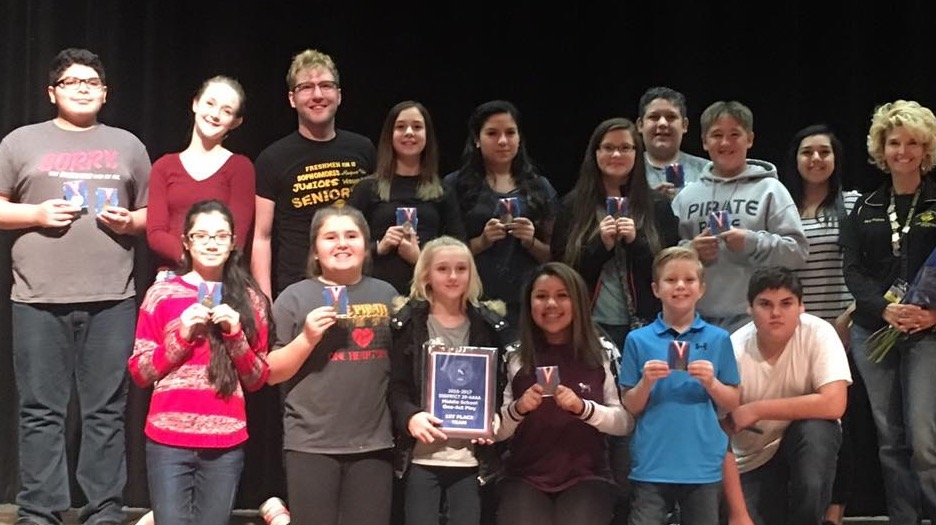 Lytle Junior High's cast of Bad Seed by Maxwell Anderson, took 1st place at District 29-AAAA Middle School One Act Play Contest!.