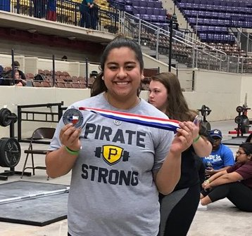 Katelin Van Dong competed against the strongest females in the State of Texas at the Waco meet  and placed 2nd with a new personal record of 1035 total pounds lifted.