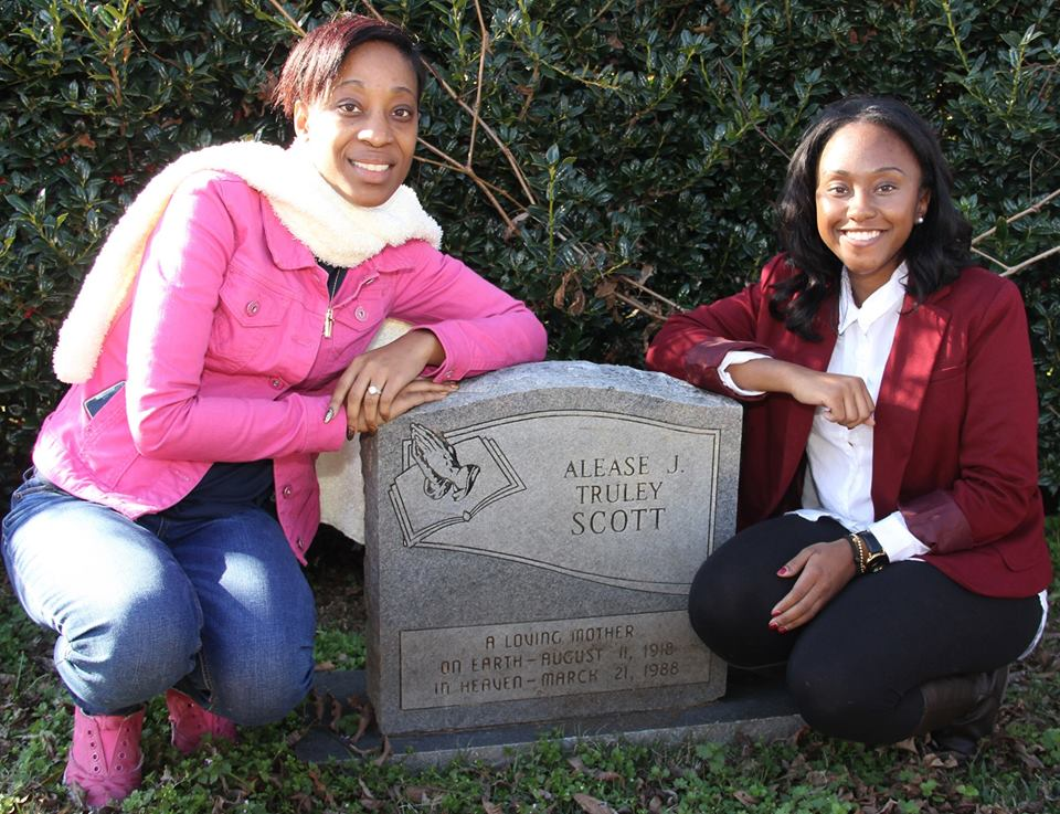 Pictured: Mrs. Alease Scott-Leach and Ms. Alease T. Scott, both grand-daughters of Reverend John H. and Alease Scott.