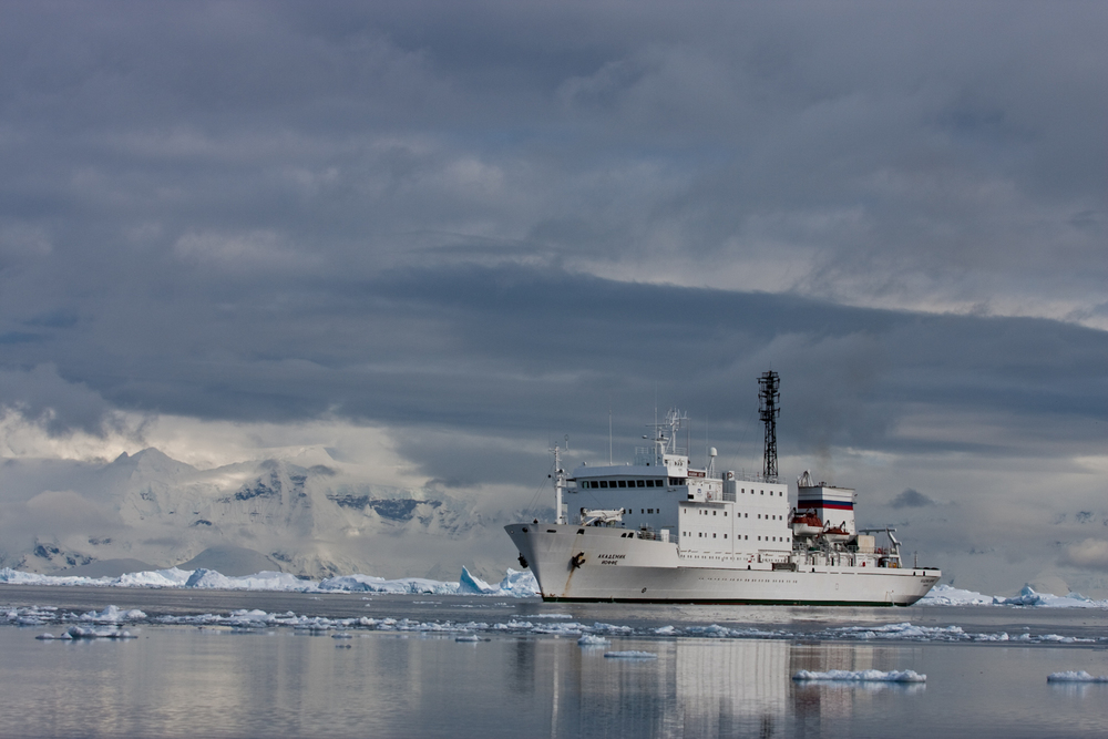 Akademik Ioffe. A 117m Russian research vessel and our home.