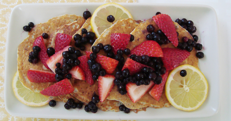 Lemon-Chia Seed Pancakes