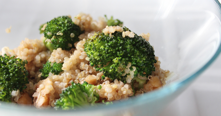 Sauteed Broccoli and Quinoa Salad