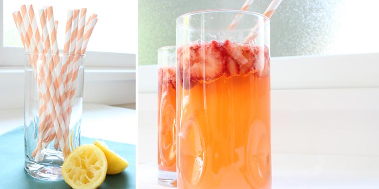 Strawberry-Ginger Lemon Fizz