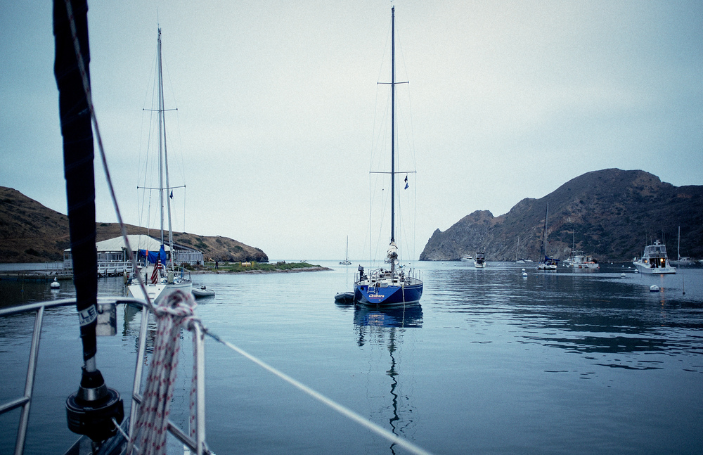 27 nautical miles from Los Angeles is an Island called Catalina that could easily be mistaken for Capri once you round the back side. Inspired by french mens ability to hang out without women we chartered a 41ft Hunter and made the 5 hour journey. High jinx ensued.