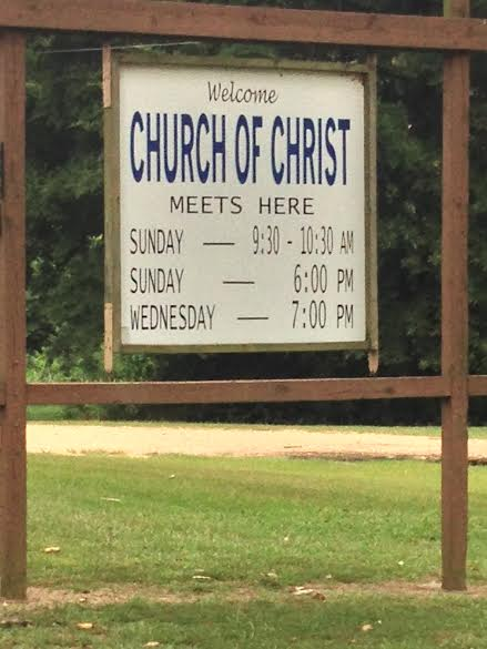 A congregation in rural Arkansas that I pass when visiting my sister-in-law and her family.