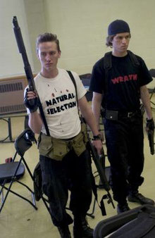 "The perpetrators of the ""Columbine Massacre,"" Eric Harris (Left) and Dylan Klebold (Right)."