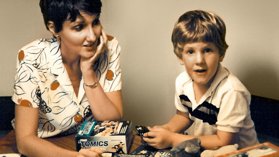 Dylan Klebold, one of the two shooters at Columbine High School, with his mother Sue Klebold on his fifth birthday.