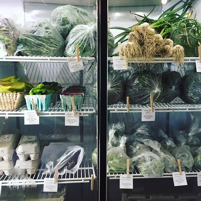 Chard, salad greens, raspberries, peppers, kale, scapes, fresh garlic, eggplant, eggs and APIS on tap. #farmstand #opendaily8to8 #organic #vermontveggies #vermontlife #stopby #supportlocal