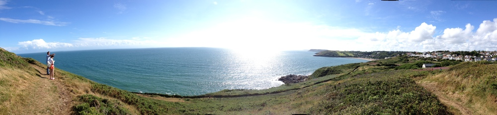 Looking toward Langland Bay