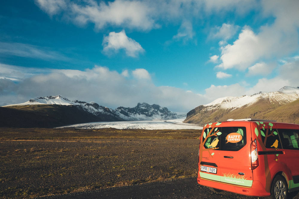 in Iceland with our Happy Camper :) photo by me.