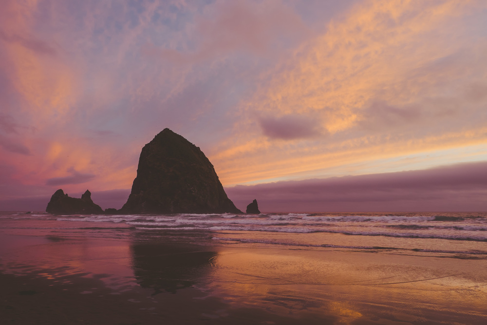 Haystack Rock, Canon Beach, Oregon. photo by me.