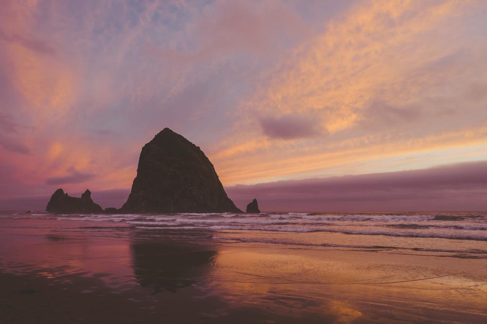 Haystack Rock, Canon Beach, Oregon. photo by me.