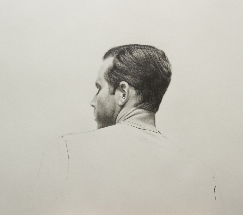 "14"" x 17"", Graphite and Cretacolor White Chalk on Strathmore 400 Paper"