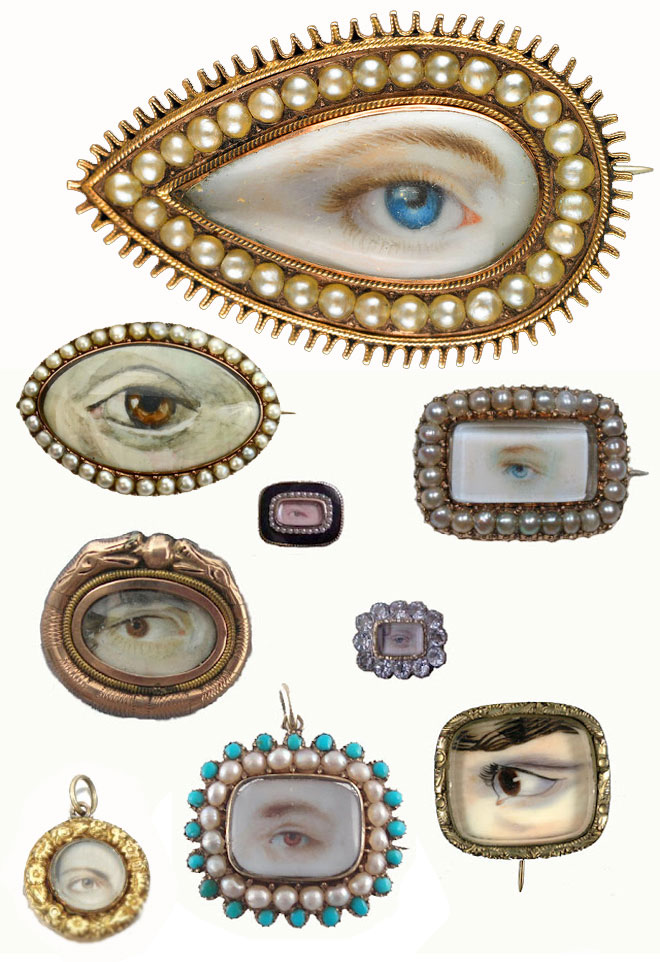 I'm obsessed with antique jewelry. A Lover's eye portrait miniature is on my wish list. Someday…